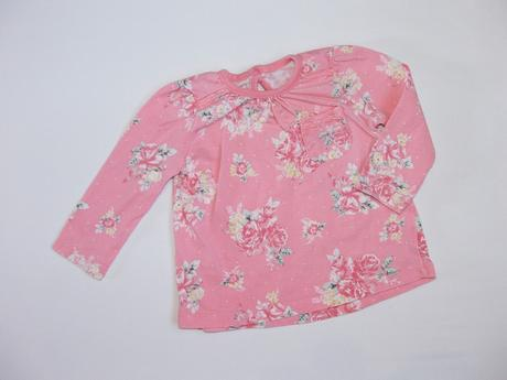 H1028 tričko s květy vel. 68, george,68