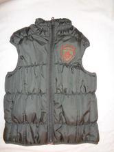 Luxusní prošívaná zimní khaki vesta, 122