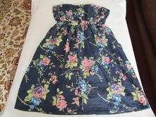 Velmi pěkné lehoučké bavl. letní šaty, bez ramínek, primark,34