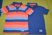 2x bavlněné tričko-polokošile 122/128, tcm,128