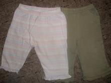 Khaki kalhoty + pruhované zdarma, early days,92