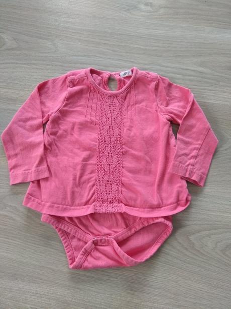 Růžové body/tričko, pepco,80