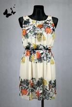Elegantní květované šaty vel 36-38, atmosphere,36