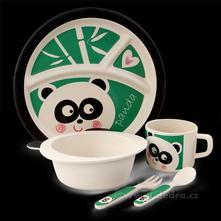 5 dílná dětská sada pro děti - panda,