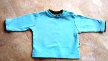 Modrá mikina s barevným lemem, 50