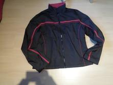 Černá bunda s červeným pruhem, xl