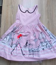 Růžové šaty, next,104