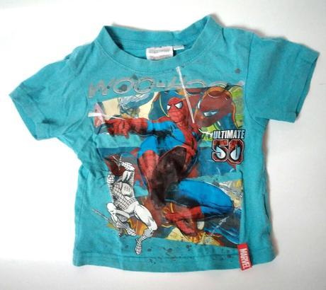 P25 - tyrksové tričko spide man, 86