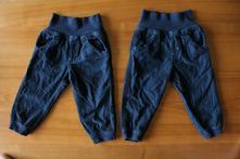2x manžestrové kalhoty pro kluky, 80