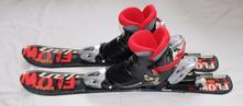 Děžtské lyže + vázání + lyžáky,