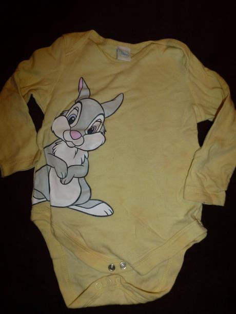 Žluté body s králíčkem, disney,80
