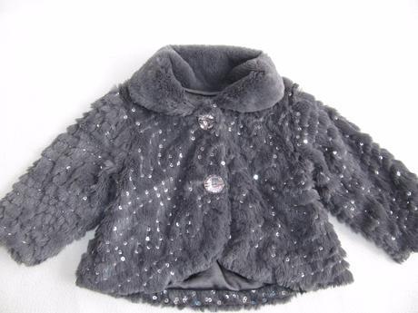 Kožešinový sváteční kabátek,6-9 měsíců, 74