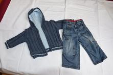 Set/souprava riflí (zn.next) a kabátku (zn.george), next,74