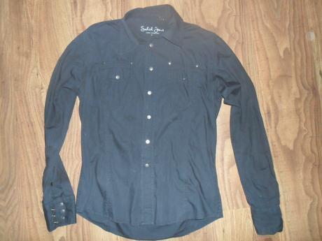 Černá košile solid jeans, m