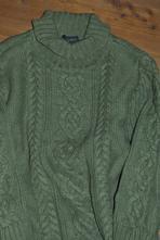 Next olivový svetr s rolákem, úžasný, teploučký, next,110