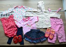 Set oblečení na holčičku, 9ks, vel. cca 74,