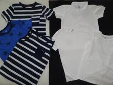Set 6 ks triček zn- hm vel-122-128, h&m,122
