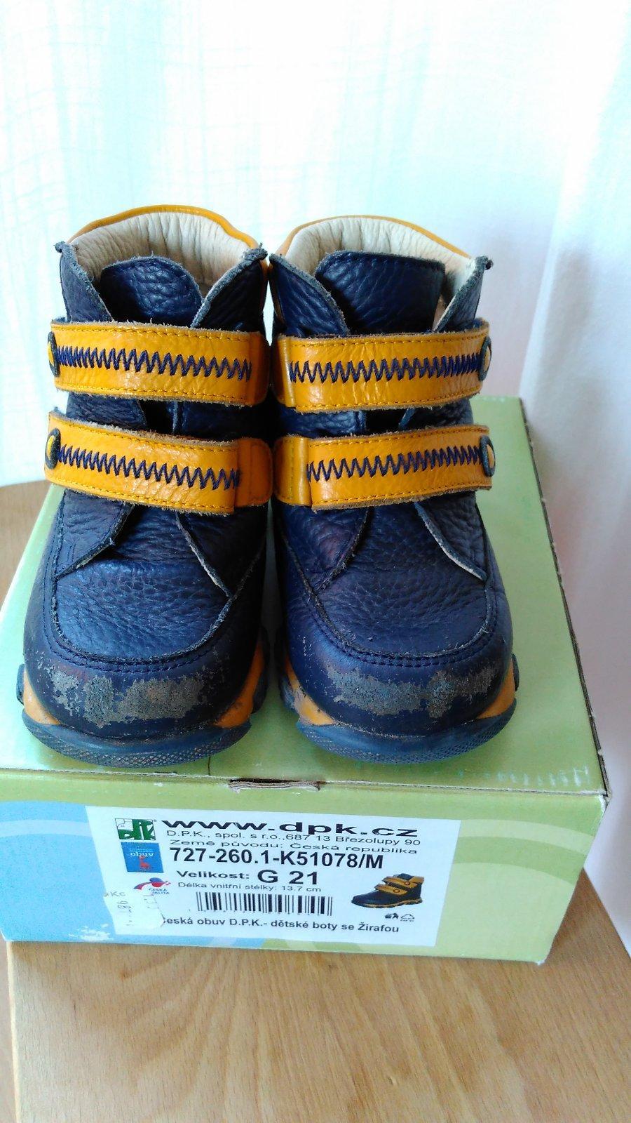 c5730f06cc7 10 inzerátů • 1 hodnocení. Zimní boty dpk 21 ...