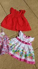 Šaty / šatičky červené bavlněné, next,74
