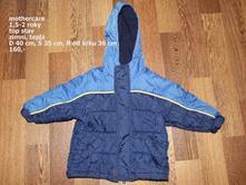 Zimní bunda 1,5 - 2 roky, mothercare,92