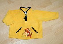 Žlutá fleecová mikina s tygříkem a pú, bhs,74