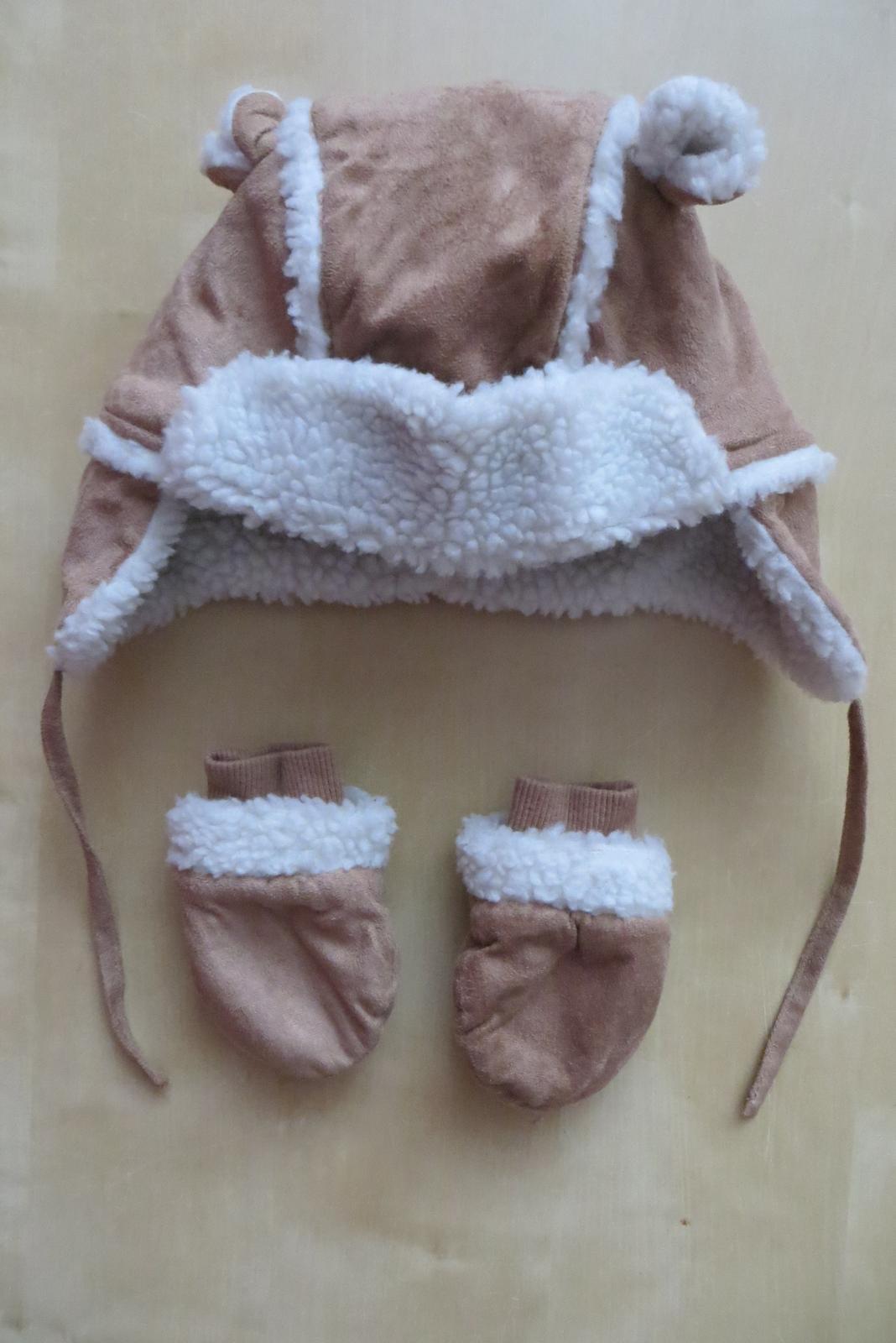 def3549268a Zimní čepice + rukavice
