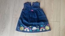 Šaty/šatičky z odlehčené rifloviny, st. bernard,74