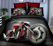 Povlečení 3d-140x200 motorka č.10- skladem, 140,200