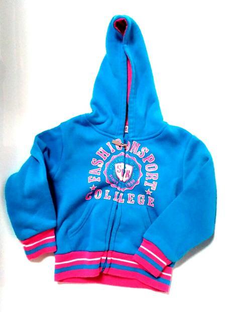 P59 - modrá mikina s růžovým, 98