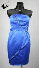 Modré šaty se zipy vel 40, 40