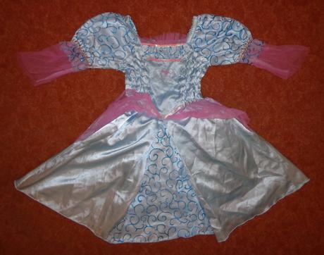 Kostým šaty princezna, george, vel. 3-4 roky.,
