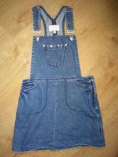 Riflová džínová laclová sukně, marks & spencer,134