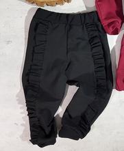 Černé dívčí tepláky s kanýrem, 92 - 134