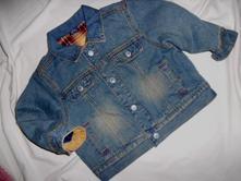 Luxusní teploučká podšitá riflová bunda, next,92