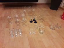 Panáky,sklenice,skleničky na bílé a červené víno,