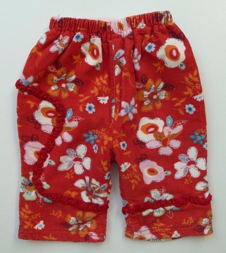 Zateplené manšestrové kalhoty manšestráky vel. 62, 62