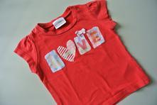 Červené tričko next s nápisem love, next,68