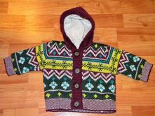Teplý kabátkový svetr vel.56/62, 56