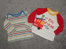 2x tričko s dlouhým rukávem, marks & spencer,68