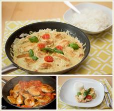 Kuře s pestem a smetanou, rýže