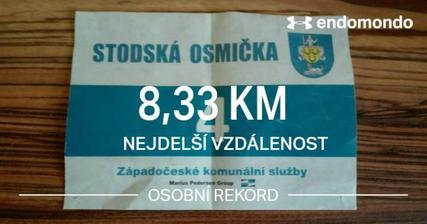 Můj druhý závod.. tentokrát na 8km