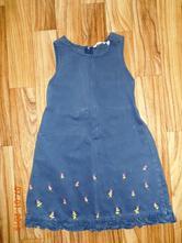 Riflové šaty/ zásterka do školky, h&m,110