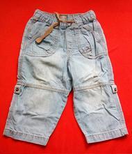 Džíny s ohrnovacími nohavicemi, h&m,86