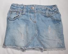 C8. riflová sukně 1,5-2 roky, denim co,92