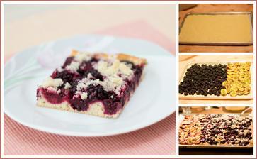 Kynutý ostružinový nebo švestkový koláč