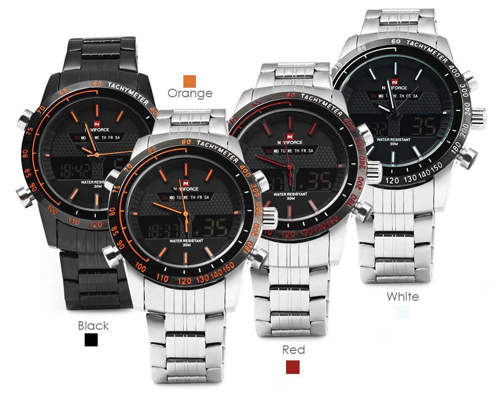 Pánské značkové hodinky naviforce - 4 barvy 5a35db93ef