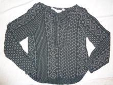 Luxusní lehounká vzdušná černošedá košile, h&m,122