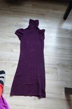 Fialový dlouhý svetr k legínám, svetrové šaty, amisu,m