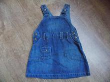Džinové šaty nebo sukýnka s laclem zn. dout chou, 80