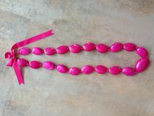 Náhrdelník / pásek z lastur sytá růžová s mašlí,
